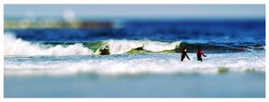 Surfing in Barcelona by VeraCotuna