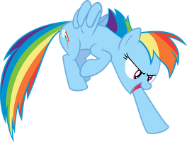 Rainbow Dash Pointing by Sairoch