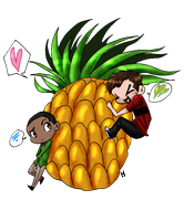 Psych: Pineapple Love by Metalbeast114