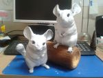Chinchilla sculpture WIP update #2 by philosophyfox