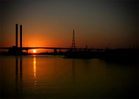 Sunset over the bridge by chealse