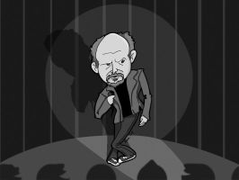louis ck monochromatic by BlackPotion