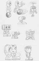 Character Sketches by Cyberguy64