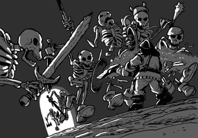 Skeleton warriors attack by jjnaas