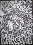 Peace Love n Shrooms -bw- by razorblade-butterfly