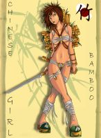 C. Bamboo Girl Contest Entry by mangaart1st