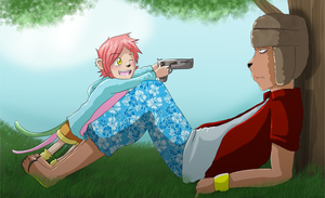 Don't run with guns by Natomi