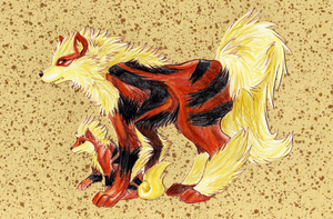 Arcanine by fivetinsoldiers