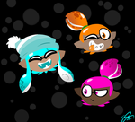 Kid Squid heads by PaintBounce