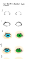 Turtorial: How To Draw Fantasy Eyes by berryrue
