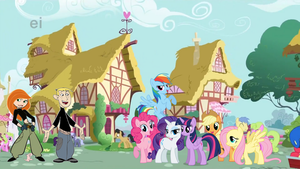 Kim and Ron meets the Mane 6 by darthraner83