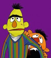 Bert and Ernie Halloween by MoonCREEPER