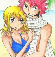 NaLu - Summer time! by amikoRoyAi