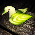 Green Apple Swan by morrallshortie