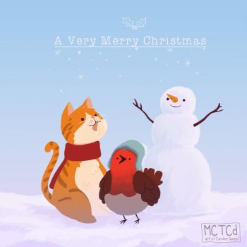 Happy Holiday's! - Robin and Cat by victomoflove