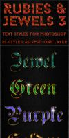 Rubies and Jewels 3 - Text Styles by ivelt