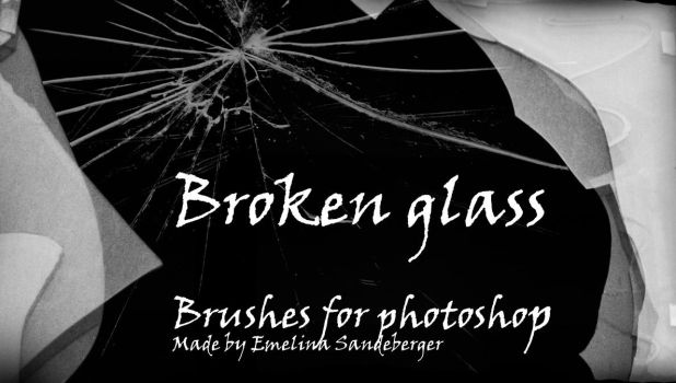 BROKEN GLASS - 4 different brushes for photoshop by EmelinaS