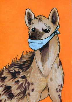 Spotted Hyena ATC by bruisedhound
