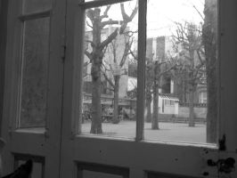 School from Window by Aelxis