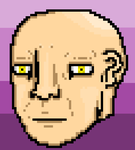 Hotline Miami Head Base (Bald/Henchman) by illcitvirus115