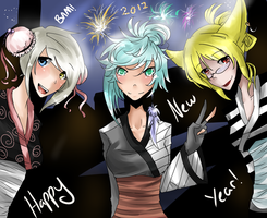 HAPPY NEW YEARS 2012 by milkie-nommi