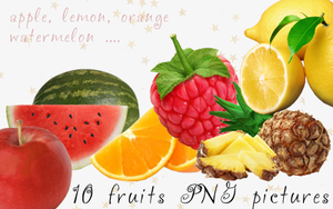 10 fruits PNG by sell-designtrend