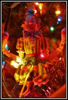 Christmas tree ornament CLOWN by marinaCborne