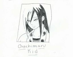 Orochimaru Kid sketch by RavenluvsSesshomaru