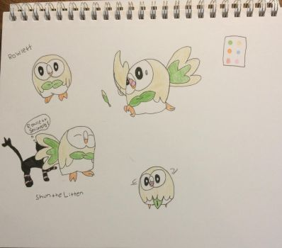Rowlett! (Even tho I chose Litten) by DaughterOfApollo101