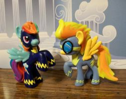 Custom Spitfire and Rainbow Dash by FullmetalotakuDCK
