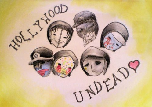 Hollywood Undead. by GothicRaincloud