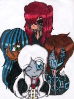 TRADITIONAL: My Main Creepypasta OCs by InvaderIka