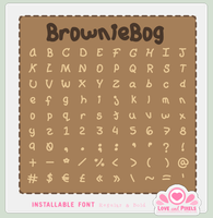 Font - Brownie Bog by firstfear