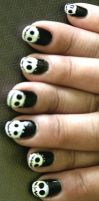 jack skellington nail art by pyoko-pyoko