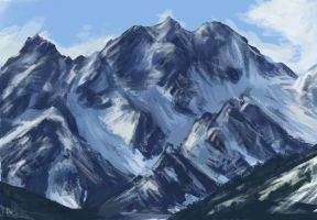 Ice Mountain Study by JessiJellibean