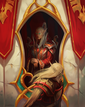 Comission: Blood Elves by Larbesta