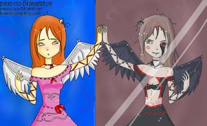 comm - Piwy Angel and Demon  by Princess-CoCo-154