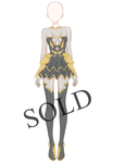 [SOLD] Shadow Armour Outfit Adoptable by Aloise-chan