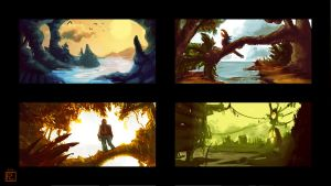 Four Planets by Eliket