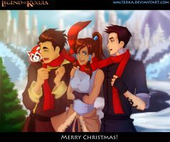 X-mas avatar Korra's team by walterka