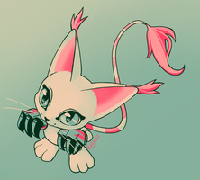 Gatomon by Raiilynezz