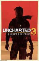Uncharted 3 Drakes Deception poster by billpyle