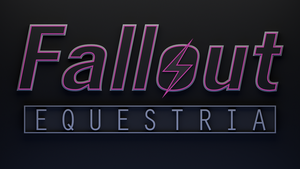 Fallout: Equestria Logo 3D - WIP 1 by Lightning5trike