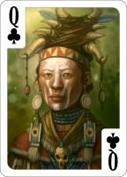 Queen of Clubs by d-torres
