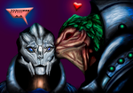 Turian and Krogan (unexpected Kiss) by DVAS12