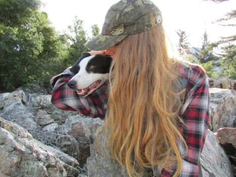 A girl and her dog. by Miss-Ellanious