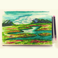 Howl's Moving Castle| Watercolor Practice by AnanyaArts