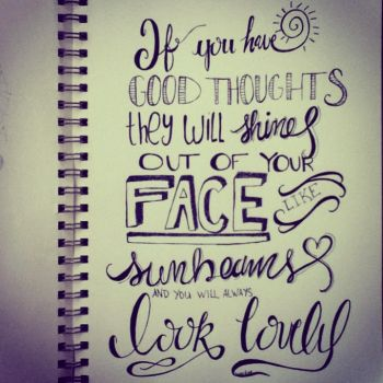 Good Thoughts Hand Lettering by KarenNicole97