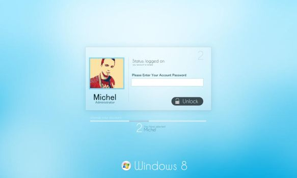 windows 8 login v2 concept by mvgraphics