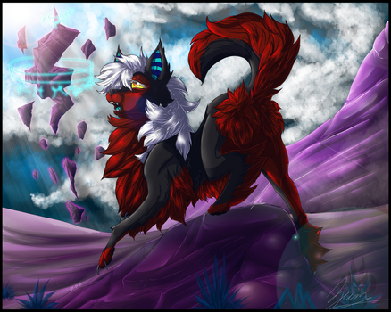 Zecon's wolf form by Zecon